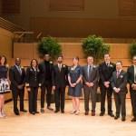 President Hrabowski and others pose for UMBC Alumni Awards