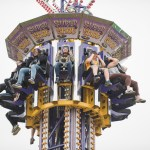 People on supershot ride