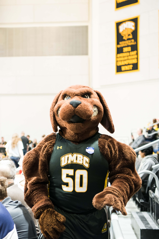 True grit mascot walks around at event center opening