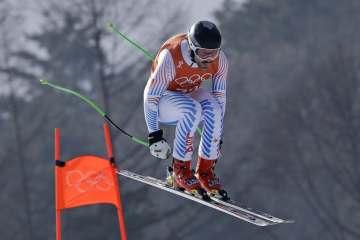 Man in air skiing Us representative for olympics