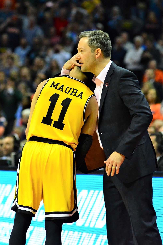 UMBC coach embraces player, Maura