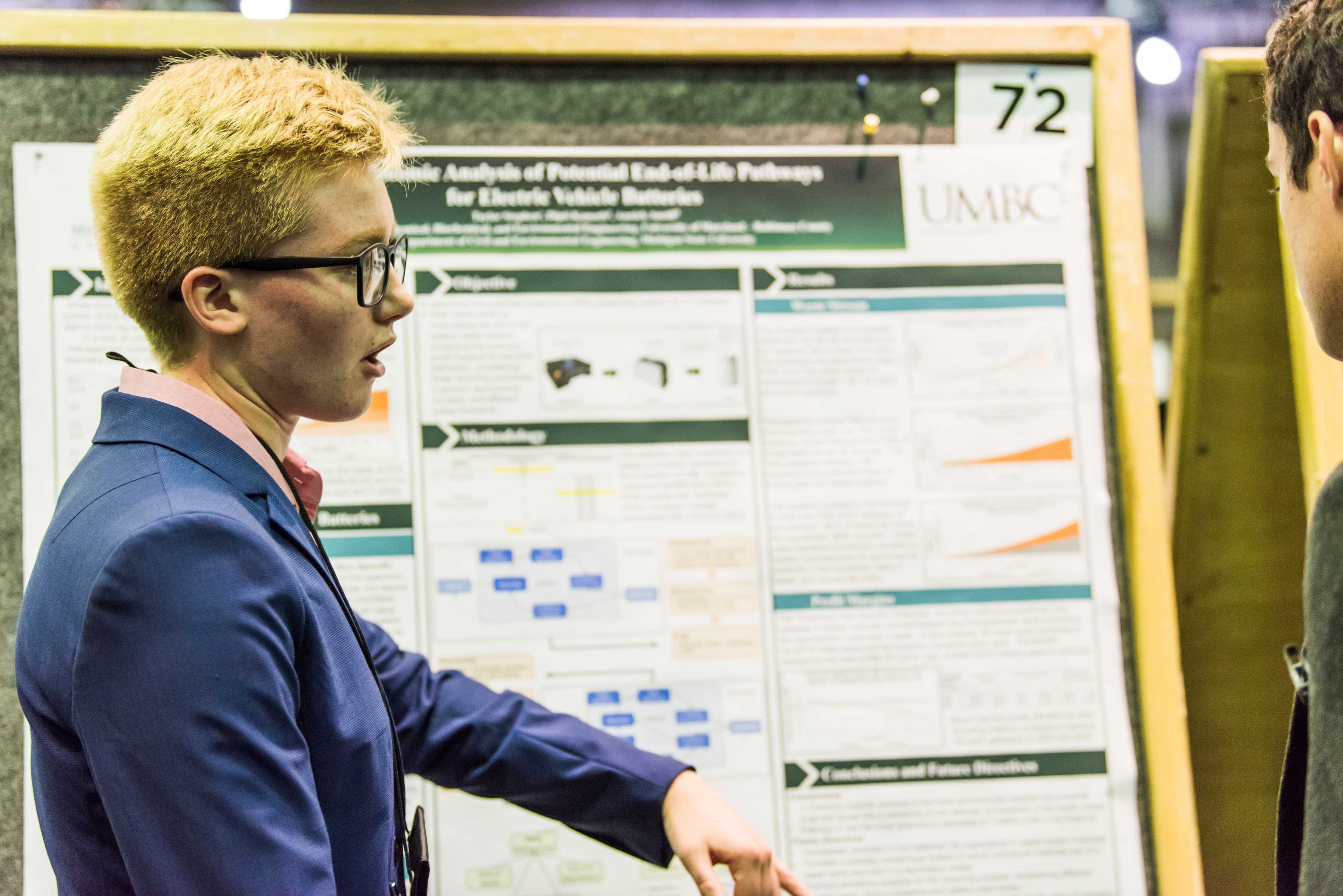 Taylor Stephen presents findings at URCAD