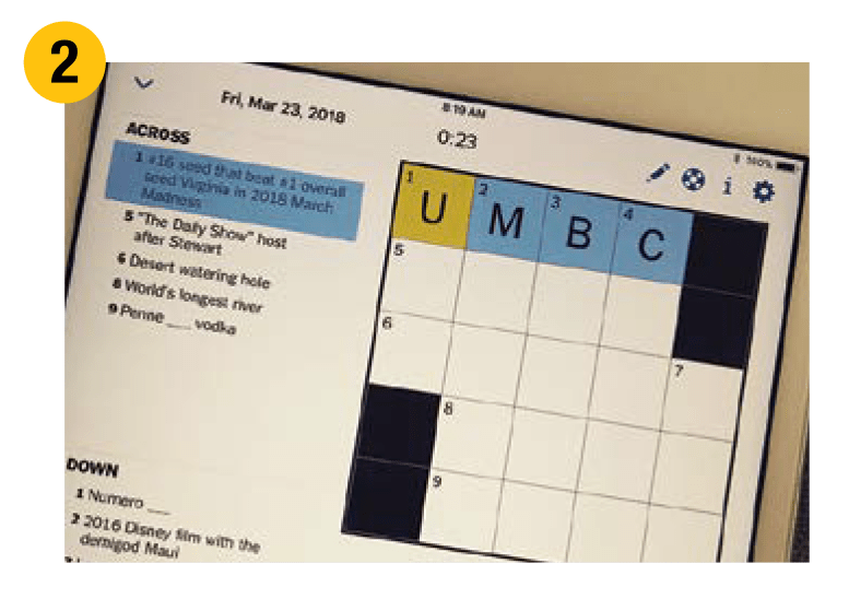 UMBC answer for New York Times and Washington Post Crossword puzzle