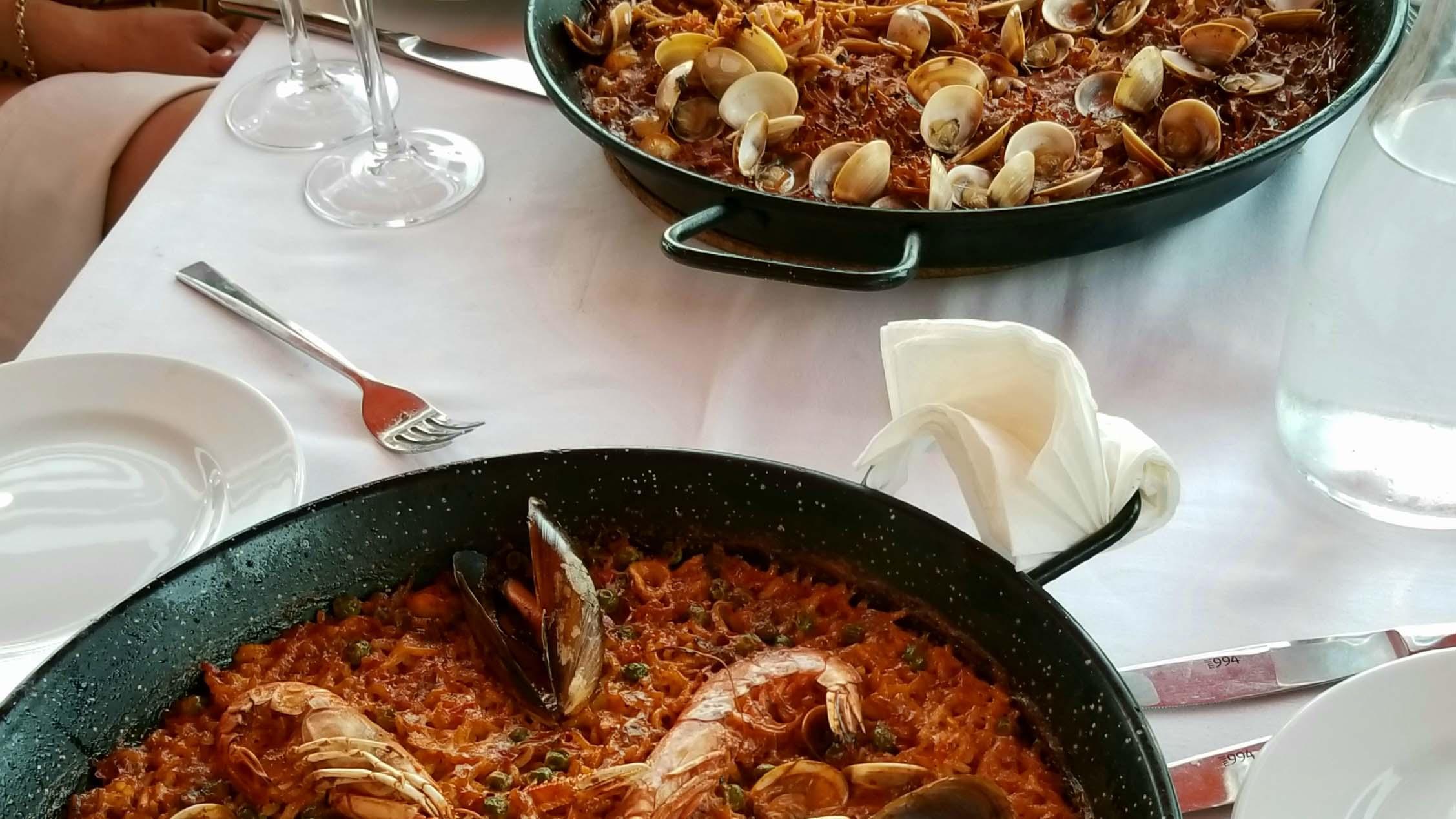 Paella at restaurant