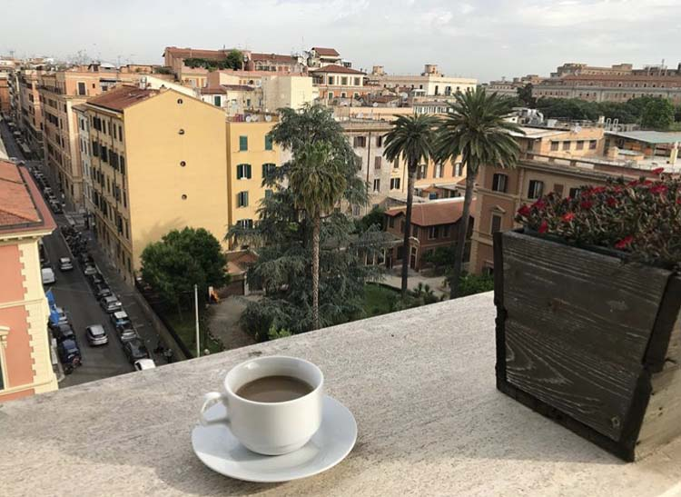Cup of coffee in Sienna
