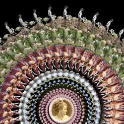 art piece with repeating images that create one whole piece