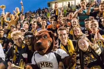 Crowd goes wild at UMBC homecoming soccer game