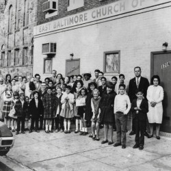 Members of East Baltimore Church of God, which was founded by Lumbee Indians, and was once located in the heart of 'the reservation,' in the 1700 block of E. Baltimore Street.Photo courtesy of Rev. Robert E. Dodson Jr., Pastor, East Baltimore Church of God, Author provided