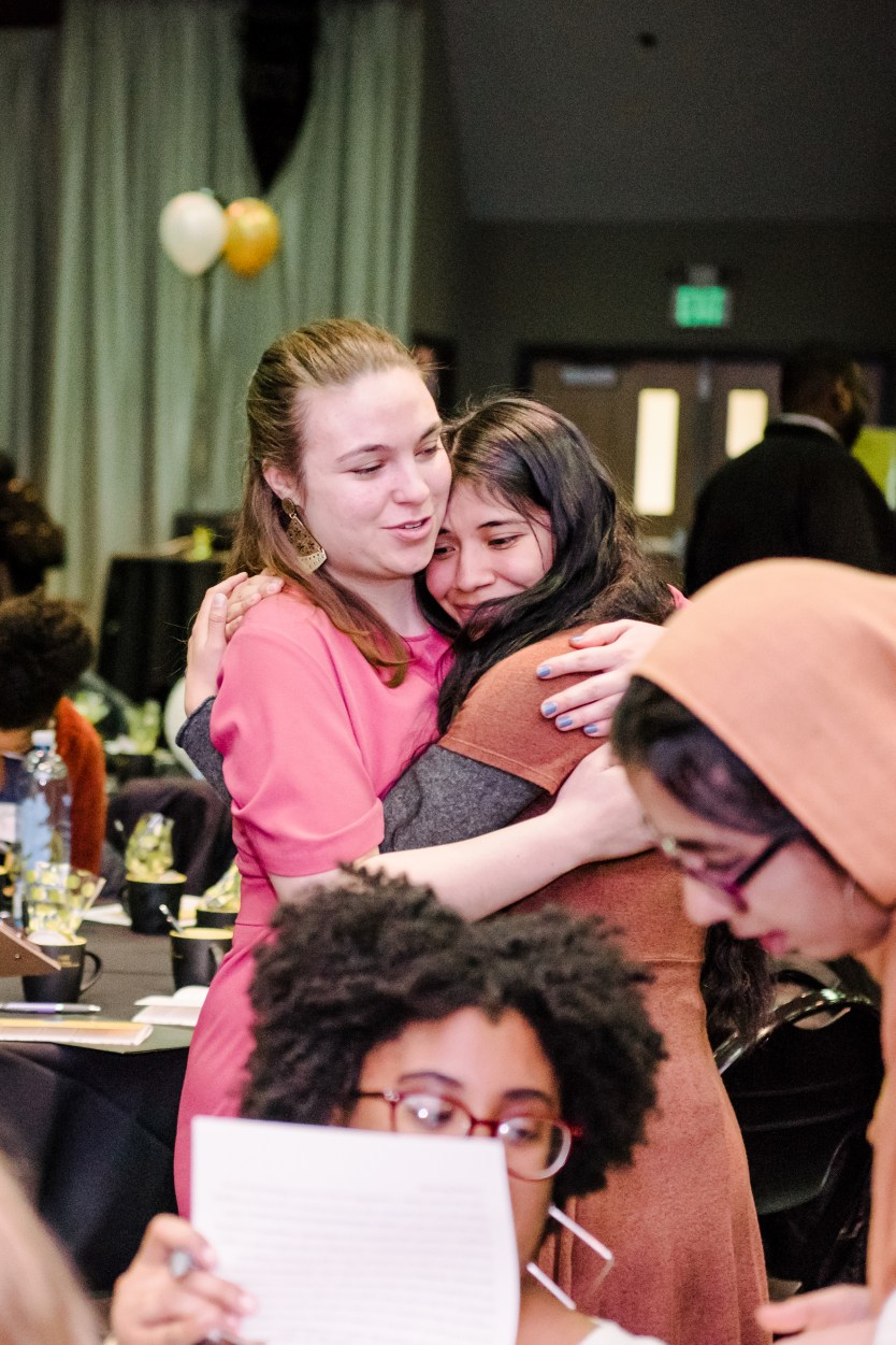 Students gather to celebrate The Mosaic's 15th anniversary in February 2019.
