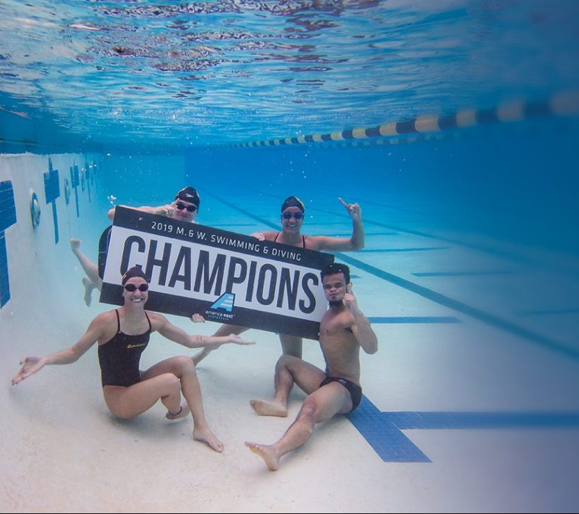 The Retrievers swept the America East championships this past winter, claiming their 31st and 32nd titles. Photo by Marlayna Demond '11.