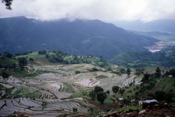People have been modifying Earth – as in these rice terraces near Pokhara, Nepal – for millennia. Erle C. Ellis, CC BY-ND