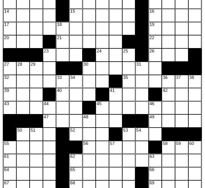 empty crossword puzzle