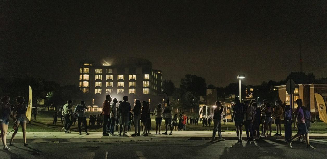 UMBC at Nighttime