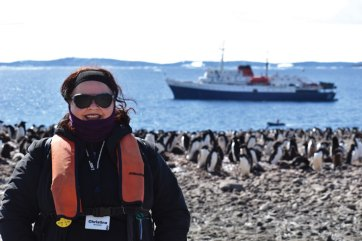 Christina Devorshak in Antarctica with Homeward Bound in January 2019.