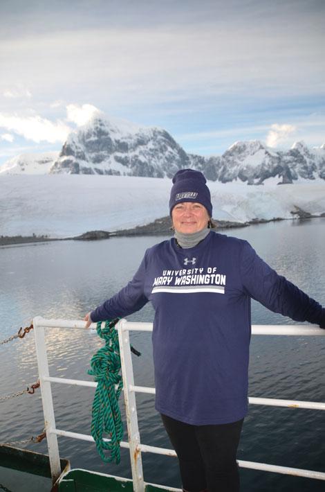 Elisa Devorshak Harvey aboard the Ushuaia in February 2018.