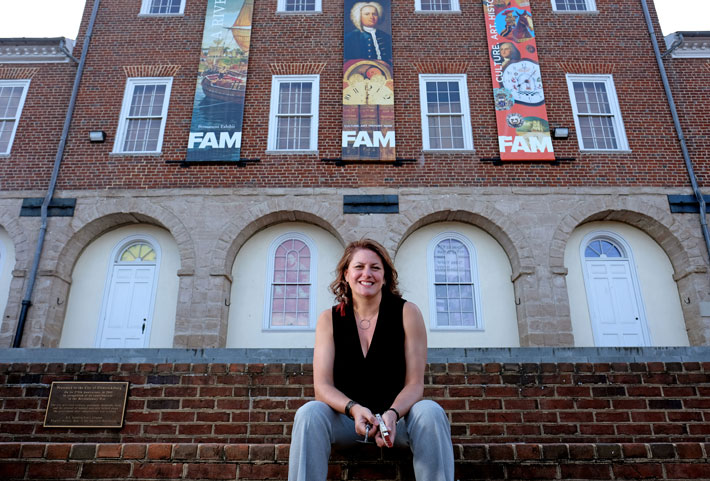 When she was a historic preservation student nearly 30 years ago, Kerri Barile was doing her first fieldwork with her professor at Fredericksburg's Market Square, shown here, when she realized that she wanted to make historic preservation her career.