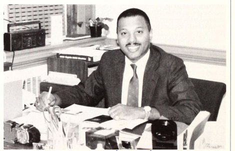 Forrest Parker, shown here in a photo from the winter 1991 Mary Washington College Today, was the first director of the Multicultural Center and helped found the popular Multicultural Fair.