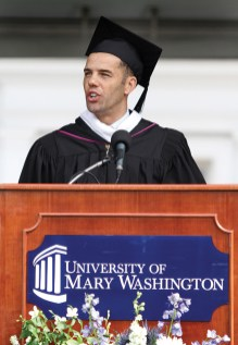Undergraduate commencement speaker Steve Pemberton.