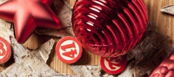 L'immagine mostra una tombola natalizia