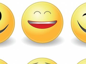 L'immagine mostra una serie di emoticon