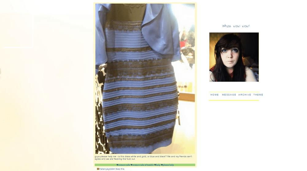 ドレスは白と金?青と黒?調査結果報告!「脳の勘違い」が原因?