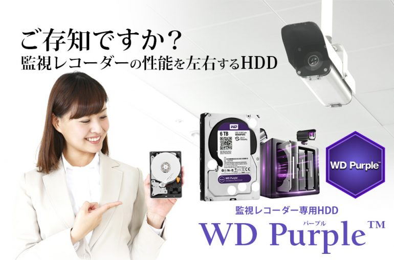 防犯カメラ・監視カメラ専用HDD HD Purple