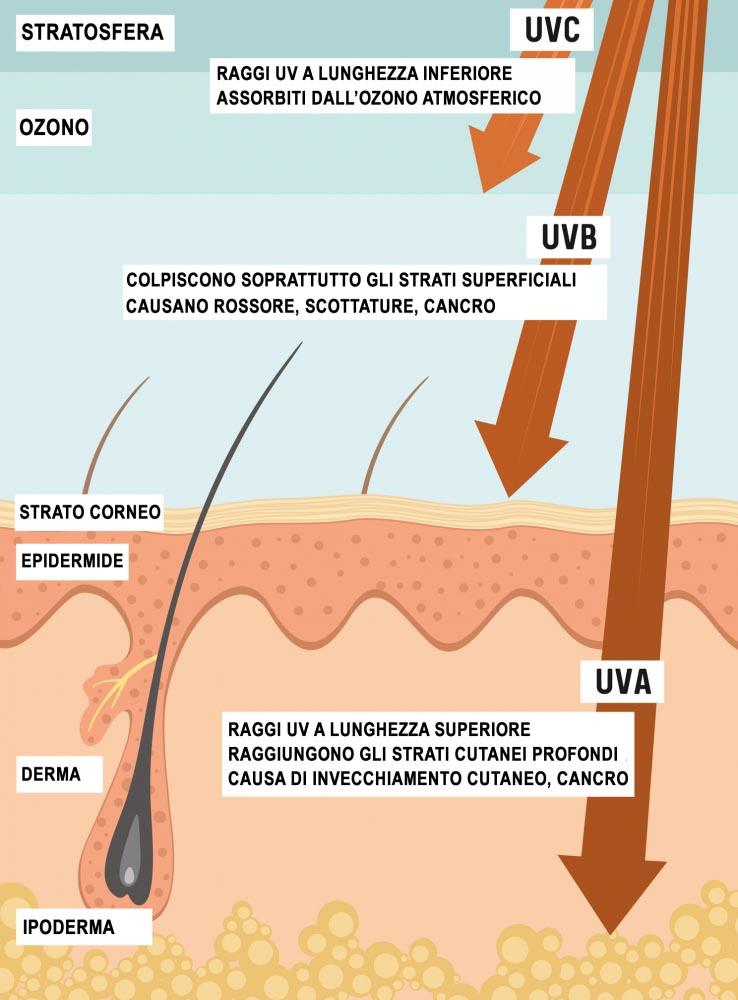 Raggi Ultravioletti - Effetti sulla Pelle
