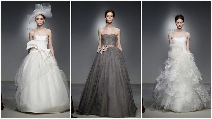 Vera Wang anche per la sposa 2012 punta sul lungo e sui tessuti vaporosi