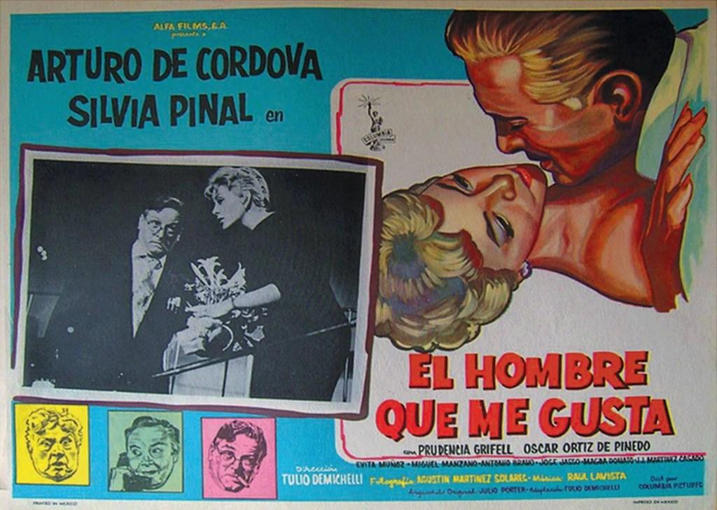 """Cartel del filme """"El hombre que me gusta"""", donde la música de Frank Domíguez es parte de la banda sonora. Foto: Humo Graphik."""