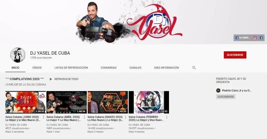 Canal de Youtube de Dj Yasel de Cuba, dedicado a la promoción de la salsa.