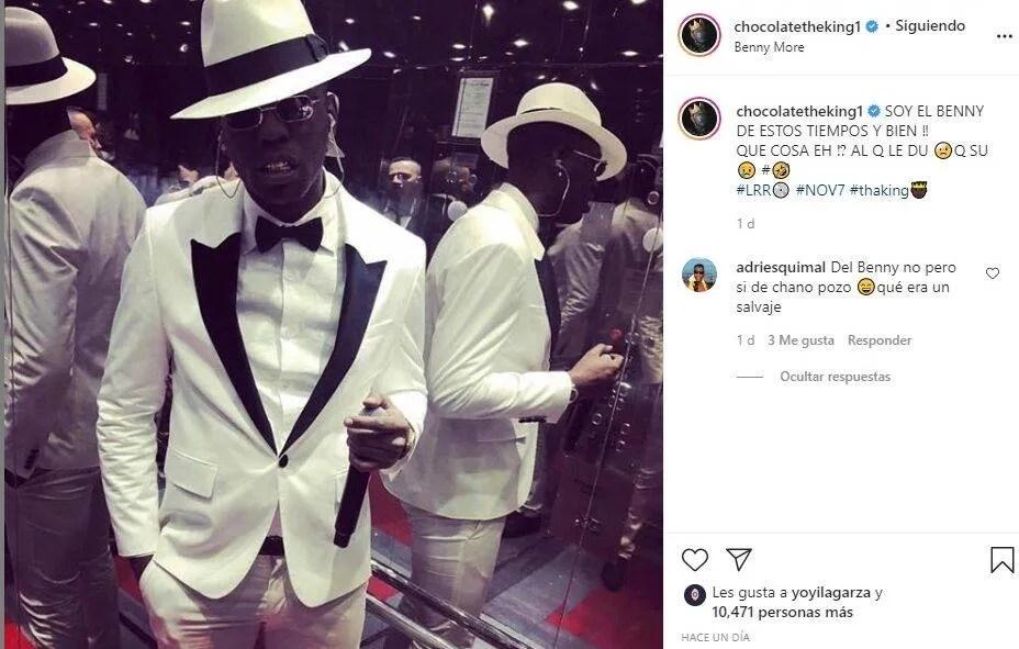 Captura de las redes del perfil de Instagram de Chocolate MC.
