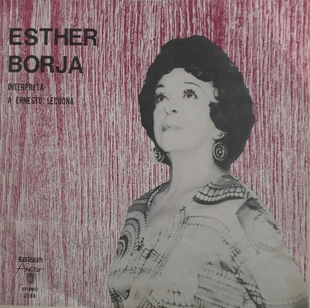 Portada del álbum Esther Borja interpreta a Ernesto Lecuona.