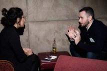 Writer Hana Shafi with Toronto Life editor Malcolm Johnston