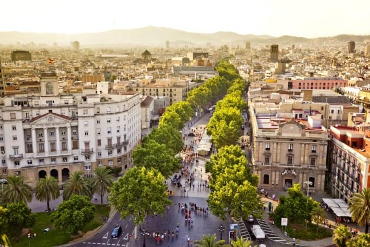 Vista su La Rambla, Barcellona