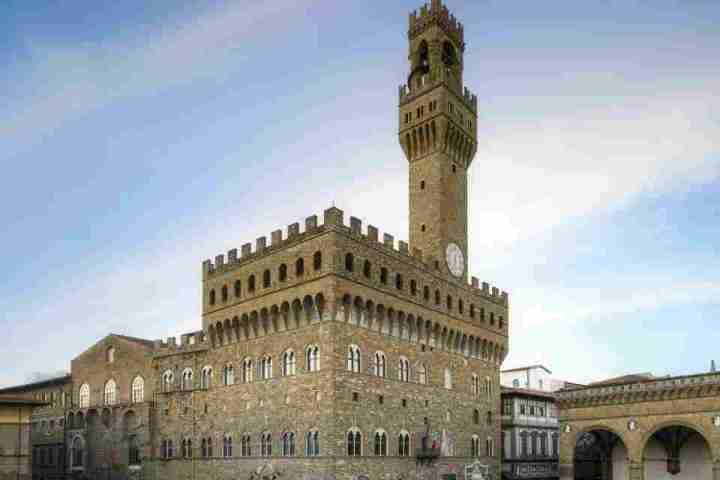 Palazzo Vecchio, sede del comune di Firenze, in piazza della Signoria