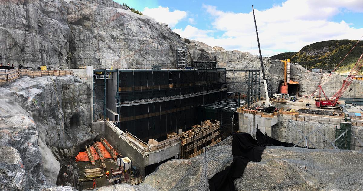 Site de construction de la phase 4 du Complexe de la Romaine