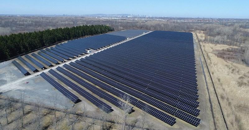 Centrale solaire Gabrielle-Bodis d'Hydro-Québec à La Prairie