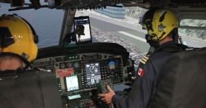 Simulateur de vol complet d'hélicoptère