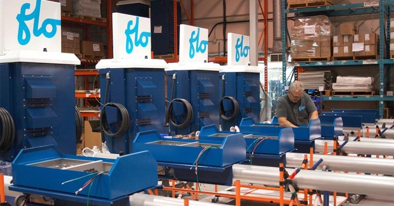 FLO - Usine de fabrication de bornes de recharge pour véhicules électriques