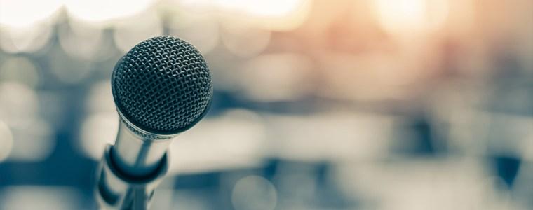 Micro lors d'un discours