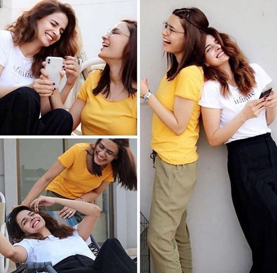 Beautiful Clicks Of Saba Qamar with her Best Friend
