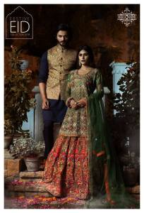 Eid Luxury Dresses Collection 2018 by Rehan & Muzammil (2)