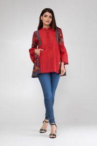 Embroidered Kurta Stylish Design 2018 By Khaadi