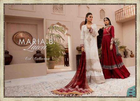 Unstitched Lawn Catalogue 2021 By Maria B (23)
