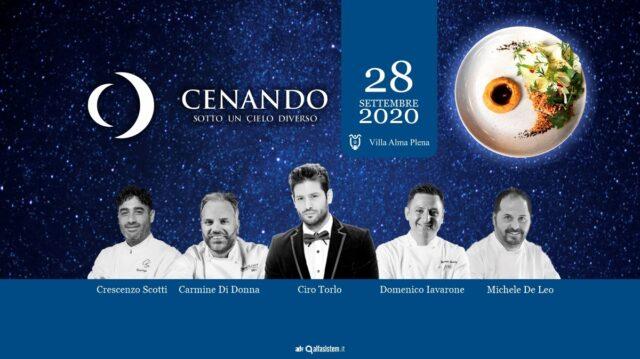 """Lunedì28 settembresi terrà aVilla Alma Plena(Caserta) la dodicesima edizione di """"Cenando sotto un Cielo Diverso"""", evento di beneficenza"""