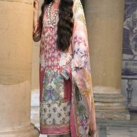 Sana Safinaz Winter Silk Prints Design Dresses 2019