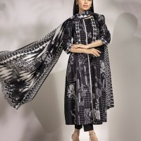 Online Shop Edenrobe Unstitched Black Suit Collection 2020