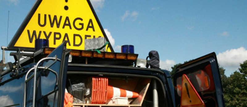 Wypadek na powiatowej drodze w Krzeczynie Wielkim