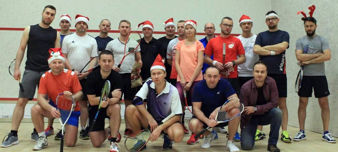 Mikołajkowa kolejka Lubińskiej Ligi Squasha