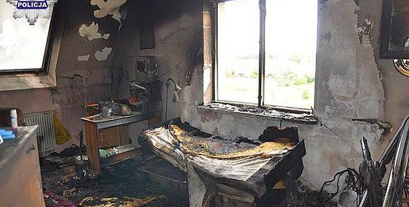 Pożar mieszkania w Chocianowie